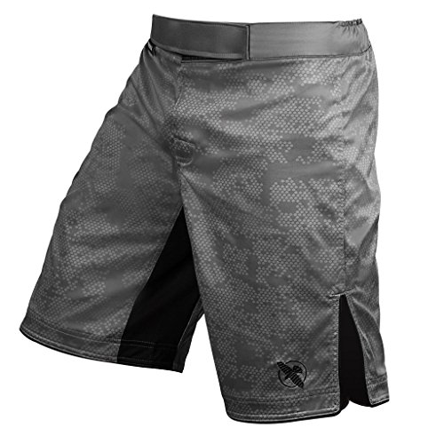 Hayabusa Hexagon Workout and MMA Shorts (Grey, Medium)