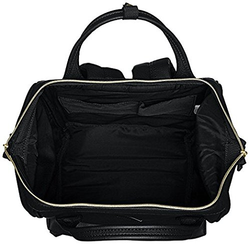 Anello Synthetic Leather Backpack Large AT-B1211 (Black) by Anello (Image #2)