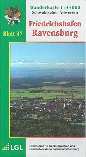 Friedrichshafen - Ravensburg: Wanderkarte 1:35.000