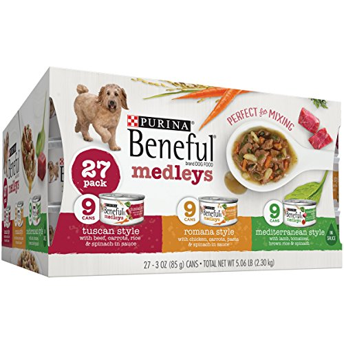 Purina Beneful Medleys Variety Pack Dog Food 27-3 oz. Cans (27-3 oz.) (Medley Star)