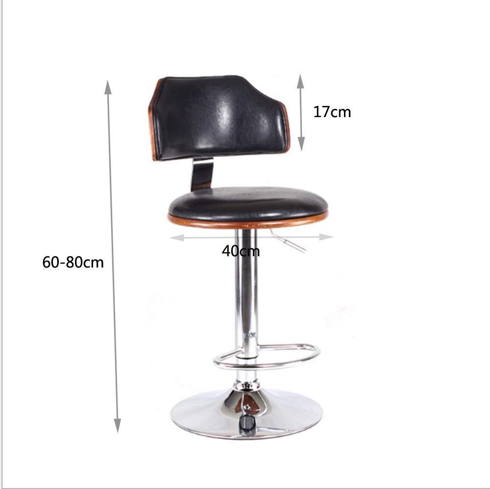 AO-stools Bar Chair Bar Stool Stylish American Solid Wood Bar Chair Lift 60x40x17cm by AO (Image #3)