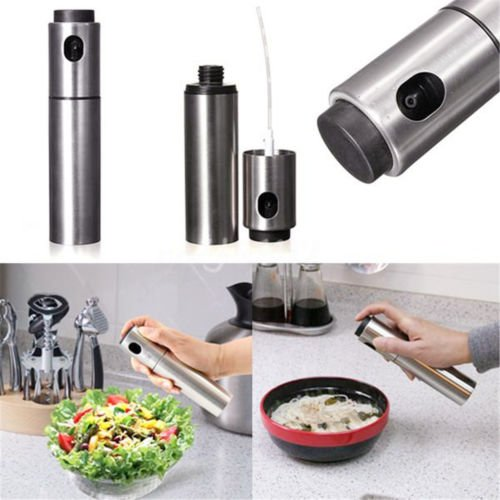 Stainless Kitchen Oil Sprayer Olive Mister Spray Pump Fine Bottle Cooking Tool