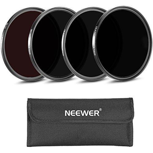 Neewer® 4 Stück 67MM Infrarot Röntgen IR Filter Set: IR720, IR760, IR850, IR950 mit Filter Tragetasche für Canon EOS Rebel T2i T5i T4i / EOS 700D 650D 550D DSLR-Kamera
