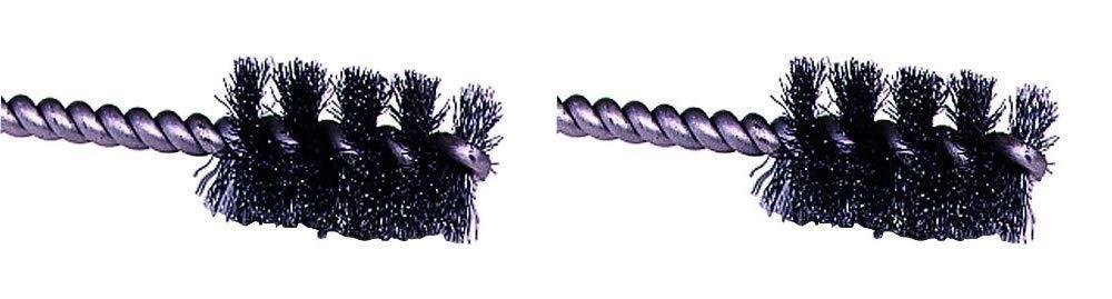 Single Stem Round Shank 1//4 Shank Weiler Round Power Tube Brush 0.008 Wire Diameter 1-1//4 Diameter 1-1//4 Diameter 0.008 Wire Diameter 1//4 Shank Weiler Corporation 21080 2000 rpm Steel Pack of 1