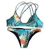 Tsmile Push-up Padded Bra Print Swimsuit Bathing Women Bikini Set Swimwear