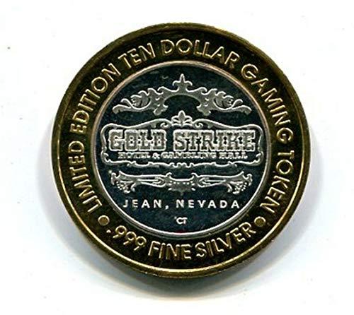 Token Strike Silver - Jean Gold Strike Limited Edition Ten $10 Dollar Gaming Token .999 Silver 47376