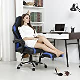 LANGRIA-High-Back-Racing-Style-Faux-Leather-Executive-Computer-Gaming-Office-Chair-Well-Padded-Footrest-and-Lumbar-Cushion-Ergonomic-Reclining-Design-Adjustable-Height