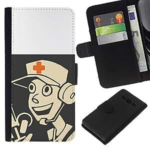 LECELL--Cuero de la tarjeta la carpeta del tirón Smartphone Slots Protección Holder For Samsung Galaxy A3 -- Tf Medic Juego 2 Juego --