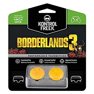 KontrolFreek Borderlands® 3 Claptrap Performance Thumbsticks for Xbox One and Xbox Series X | 2 Mid-Rise Convex Thumbsticks | Yellow