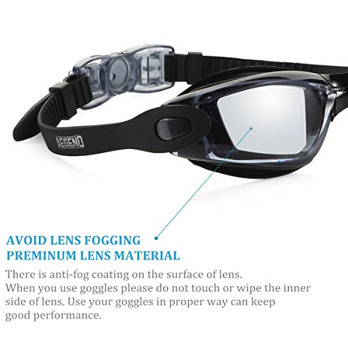 Aegend Swim Goggles, Swimming Goggles No Leaking Anti Fog UV Protection Triathlon Swim Goggles with Free Protection Case for Adult Men Women Youth Kids Child, Multiple Choice