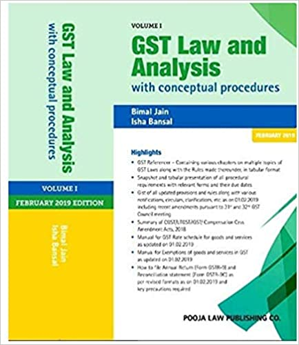 GST Law and Commentary with Analysis and Procedures