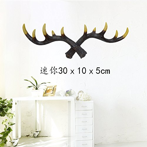 [Sino Banyan Antlers Hook,Mini,11.8 Inch,Black] (Good White Trash Costume Ideas)