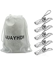 AUAYHDH Clothespins Chip Clips Pack of 40,Powerful Clothespins,Long-Lasting Strong-Grip Multi-Purpose Metal Clips for Clothes, Snack Bags, Kitchen, Camping, Travel, Food Bag ,Outdoor Clothesline