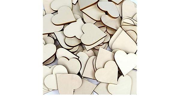 /10/cm Adornos Manualidades Decorar Mesas B/ütic GmbH Madera Corazones/ Contrachapado Herzen 1cm /1/ 10 Unidades
