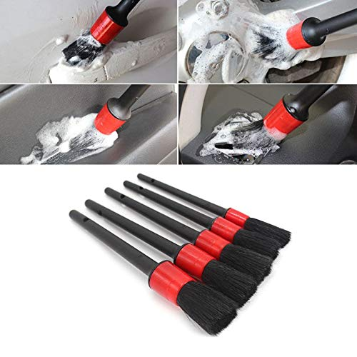 Kavas - Auto Detailing Brush Set Perfect For Car Motorcycle Cleaning Wheels Dashboard Interior Exterior Leather Air Vents Emblems
