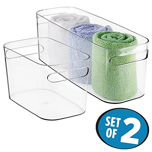 mDesign Bathroom Organizer Products Supplies