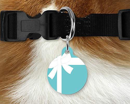 (Luxury Inspired Designer Pet/Dog/Cat ID Tag - Tiffany & Co. - 1.25
