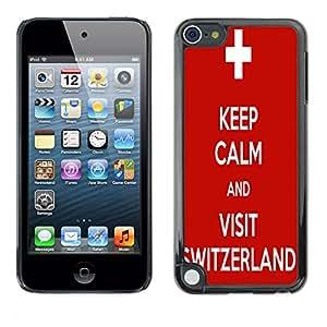 - Sweden flag - - Monedero pared Design Premium cuero del tir¨®n magn¨¦tico delgado del caso de la cubierta pata de ca FOR Apple iPod Touch 5TH GEN Funny House