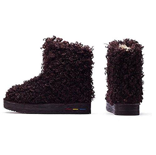 Schnee Der Stiefel Lamm Stiefel Schnee Chocolate Haare Nachahmung Baumwolle Warm Schuhe Flach Baumwolle In Schuhe Tube Stiefel v6AUHn6