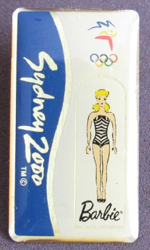 (Barbie Sydney 2000 BARBIE Olympic Collector PIN w Gold Tone Pinback (SOCOG 2000))