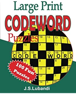 large print codeword puzzles volume 1