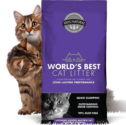 World's Best Cat Litter Original Series 14 Pound Bag, Lavend