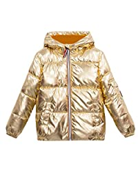 Pivaconis Girls' Hooded Thickened Down Coat Boys Puffer Parkas Jackets