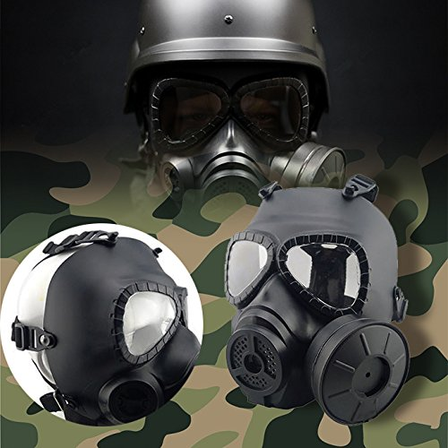 Zinnor Airsoft Mask Paintball Tactical Game CS Army Face Protection Safety Guard Toxic Gas Tool