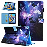 Samsung Galaxy Tab A 10.1 2019 Case, Alugs Multi-Angle Viewing Protective PU Leather Folio Cover for Samsung Galaxy Tab A 10.1 Inch SM-T510/SM-T515 2019 Release Tablet, Purple Butterfly