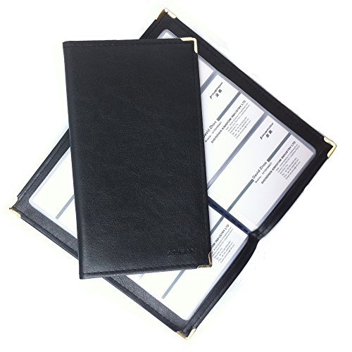 KINGFOM Premium PU Leather Business Journal Name Card Holder Book for 120 cards Black