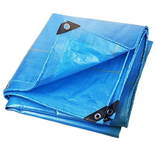 見る人首文言防雨布耐摩耗防水日焼け止め防水シート青色の日よけ布トラックカバー布キャノピー240g /平方メートル(21サイズ利用可能) (色 : 青, サイズ さいず : 8 * 12m)