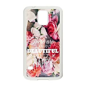 JFLIFE Beautiful Quotes Phone Case for samsung galaxy s5 White Shell Phone [Pattern-1]