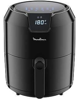 Moulinex EZ401D10 EasyFry Deluxe - Freidora sin aceite para preparaciones sanas, fríe con aire caliente, diseño compacto, ajuste de temperatura, temporizador, 8 menús, tecnología Air Pulse: Amazon.es: Hogar