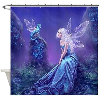 Nice CafePress   Luminescent Dragon U0026Amp; Fairy   Decorative Fabric Shower  Curtain