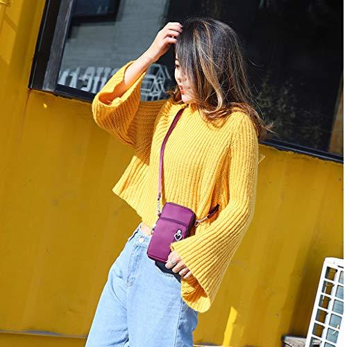 iHENGH Bag Women Fashion Ladies Nylon Solid Color Vertical
