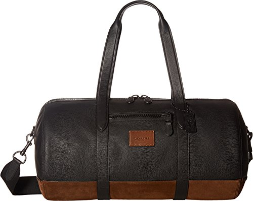 COACH Men's Metropolitan Soft Gym Bag Black/Black Mahogany Handbag
