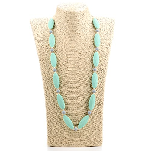 Lofca Silicone Teething Necklace Free Rita%EF%BC%88Mint%EF%BC%89 product image