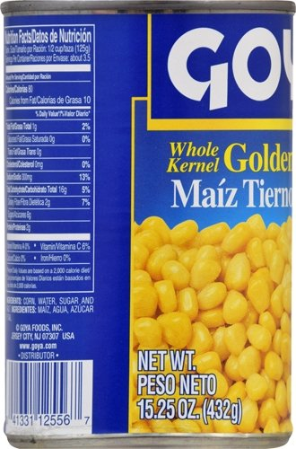 Goya Foods Whole Kernel Corn, 15.25 Ounce (Pack of 24) by Goya (Image #3)