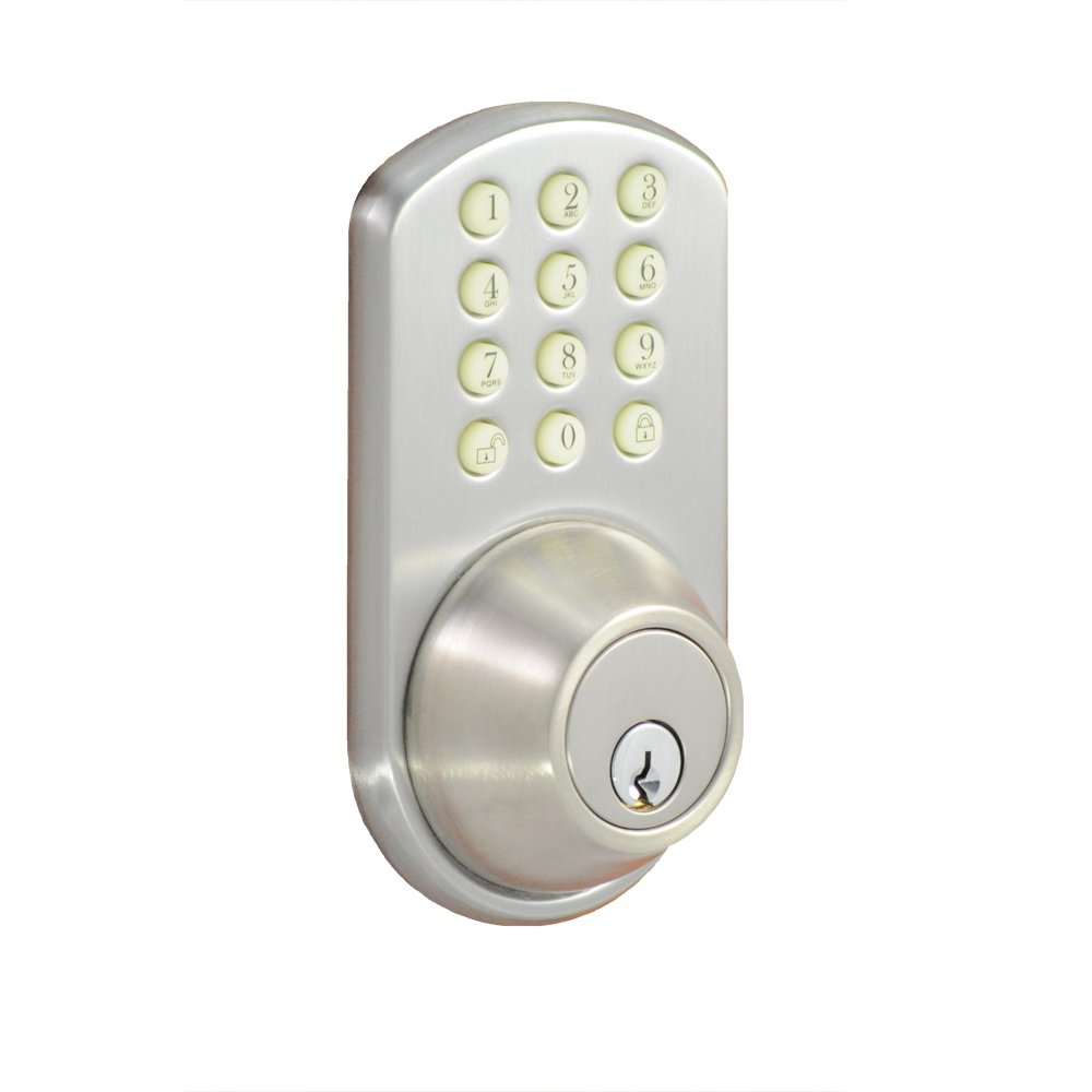 Morning Industry HF-01SN Keypad Deadbolt, Satin Nickel