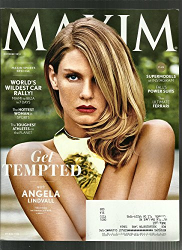 Epigram Magazine October 2014 { the Hottest Woman in Sports}get Tempted with Angela Lindvall Plus the Ultimate Ferrari