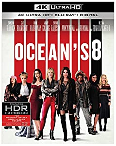 Cover Image for 'Ocean's 8 [4K Ultra HD + Blu-ray + Digital]'