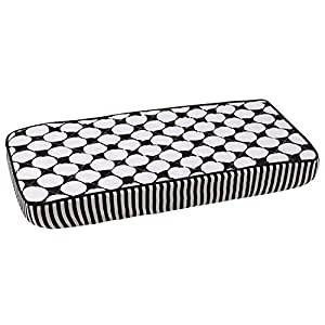 Bacati – Dots/pin Stripes Black Large Dots Changing Pad Cover