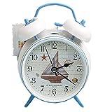 New Alarm clock Mediterranean Sea creative student mute clock (Sailboat)