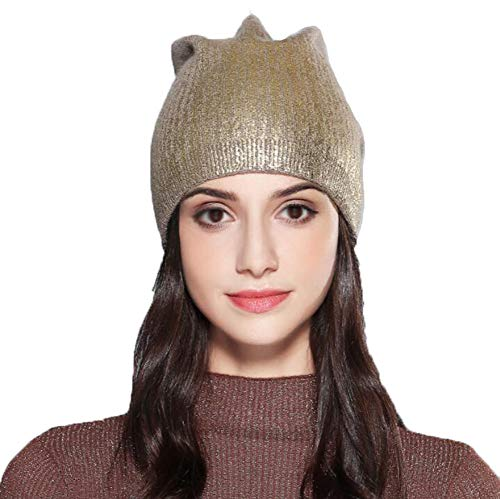 Aggf Laccato Dipinto Knit Winter Caldo Hat Marrone In Lana qUq4wC