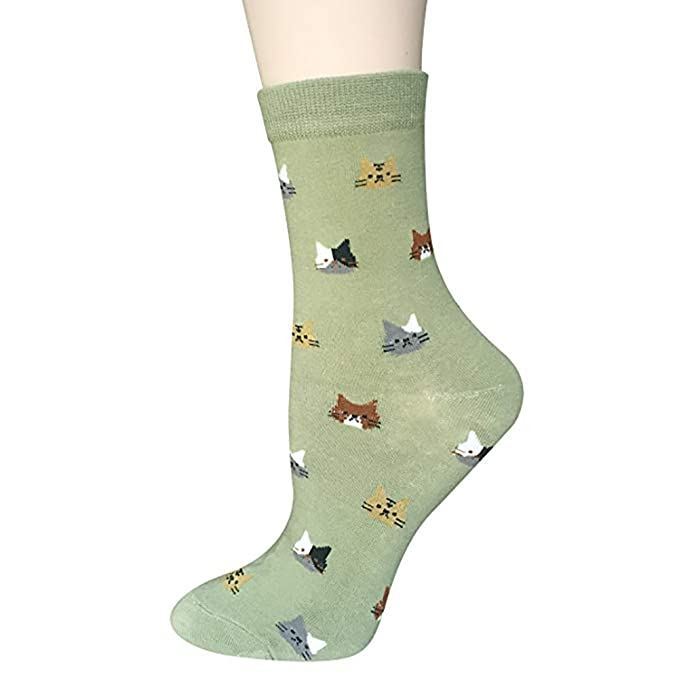 Calcetines de Algodón de Mujers - Bakicey calcetines térmicos Adulto Unisex Calcetines (Gato Dormido): Amazon.es: Deportes y aire libre