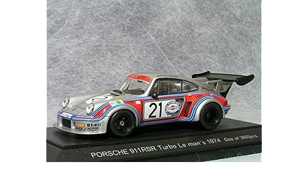 Amazon.com: Porsche 911 RSR Turbo 74 Le Mans 24hr #21 1/43 Scale Diecast Model: Toys & Games