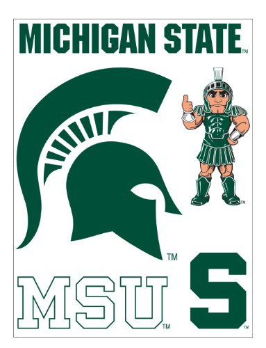 me & my BIG ideas laptopSTICKS Removable Laptop Stickers, Michigan State Spartans