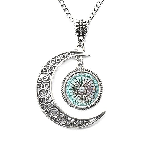 - Charm Crescent Moon Greek Necklace Ancient Greece Jewelry Greek Mythology Necklace Lost City of Atlantis Necklace Greek Mythology Jewelry Glass Necklace Gift