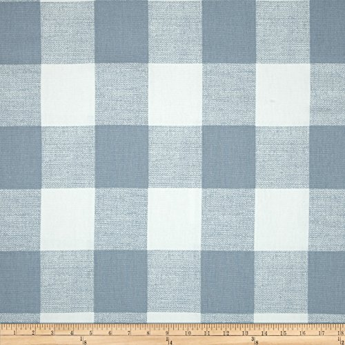 Premier Prints 0416696 Anderson Check Cashmere Blue Fabric by The Yard,