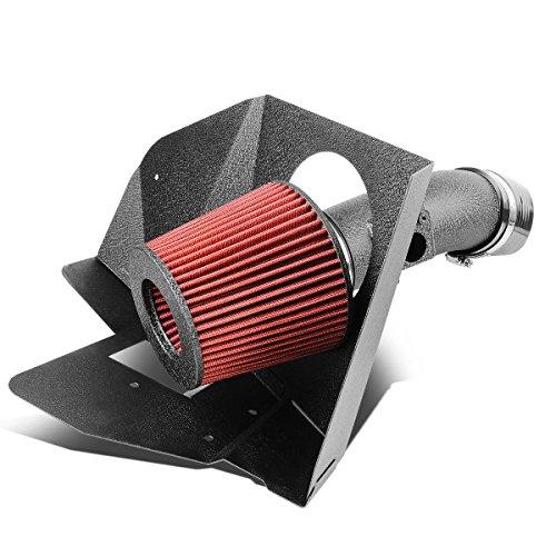 Toyota Camry / Venza V6 Black Wrinkle Aluminum Cold Air Intake Pipe + Heat Shield + (Big Maf Short Ram Intake)